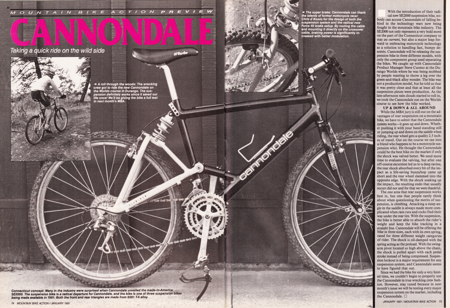 Vintage Cannondale Magazine Articles And Advertising